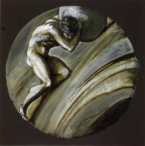 Sisyphus c.1870 by Sir Edward Coley Burne-Jones, Bt 1833-1898