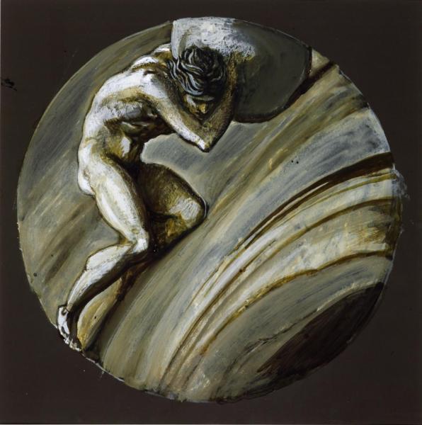 Sisyphus c.1870 by Sir Edward Coley Burne-Jones, Bt 1833-1898