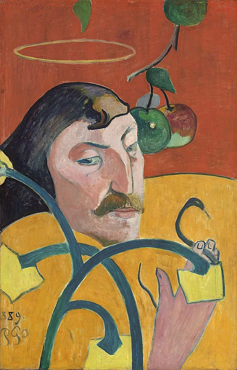 463px-Paul_Gauguin_-_Self-Portrait_with_Halo_and_Snake